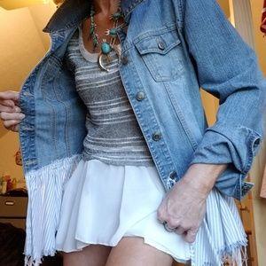 Upcycle denim jacket